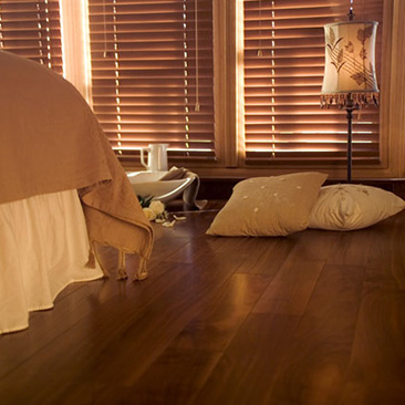 Engineered wood flooring - walnut.