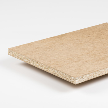 Particle board with MDF faces