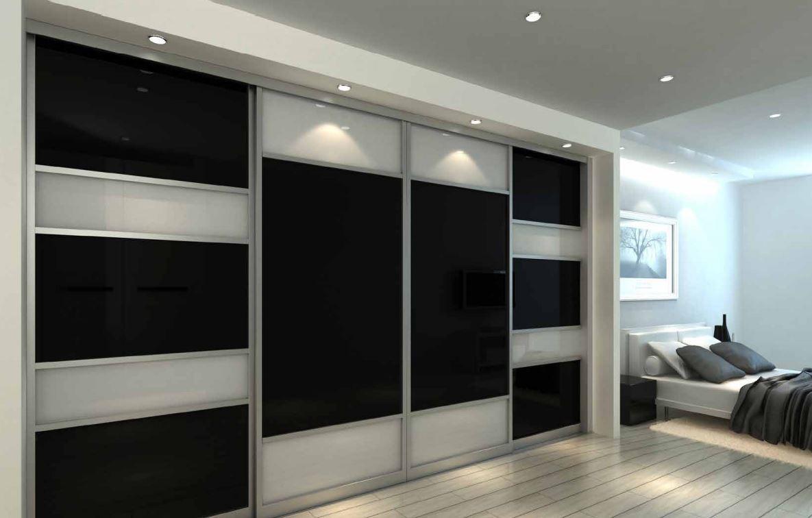 Noyeks Newmans Gt Sliding Wardrobe Doors Gt Sliding Wardrobe Doors Chrome Frame And Black White