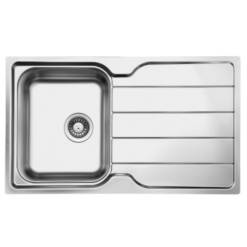 Stainless steel kitchen sink reversible