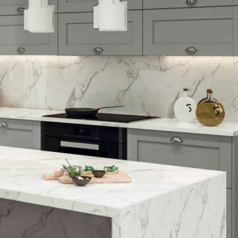 A huge range of modern kitchen worktops from solid wood, quartz to granite units.