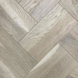 Turino Oak Herringbone White Stained