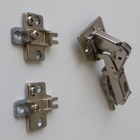 Blum Wide Angle Hinge - 170° Opening - Full Overlay - with Spring - Screw-on