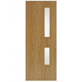 FIRE DOORS - FD30 GC 05 Oak Veneered