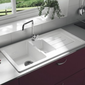 Ceramic kitchen sink with bowl