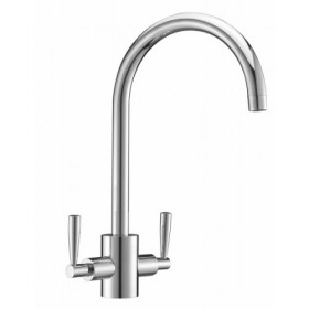 Twin Lever Chrome Tap - Noyeks Newmans Ireland