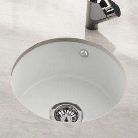 Undermount round kitchen ceramic sink