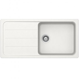 SCHOCK SINGLE BOWL - White Composite Sink