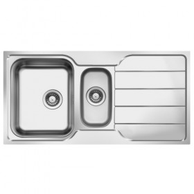 Stainless steel kitchen sink with bowl